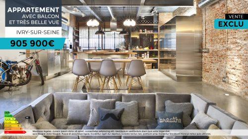 Ecran dynamique - agence immobiliere